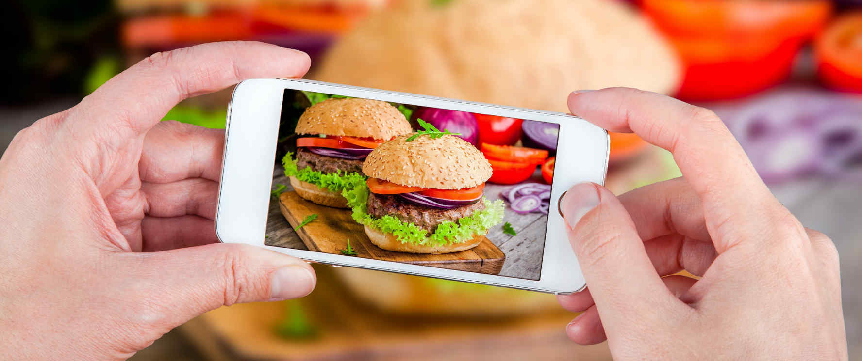 iphone burgers foodies