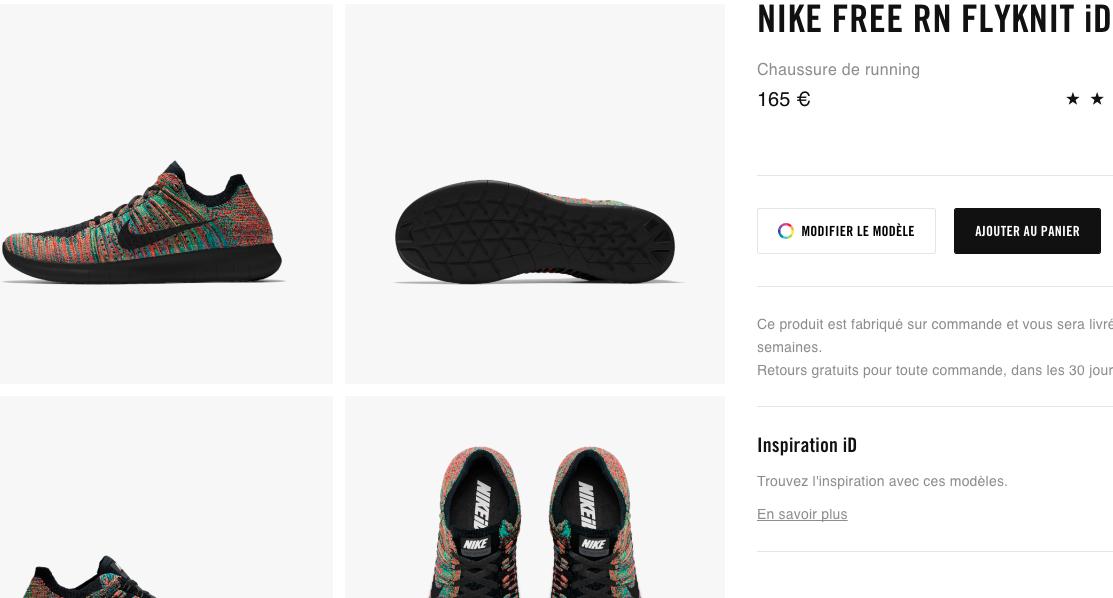 Nike store France Panier