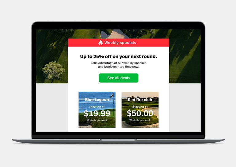 ChronoPitch - Marketing par courriel conçu pour l'industrie du golf